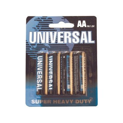 Universal Battery AA Super Heavy-Duty Batteries - 4-pk (Universal Electronics Batteries compare prices)