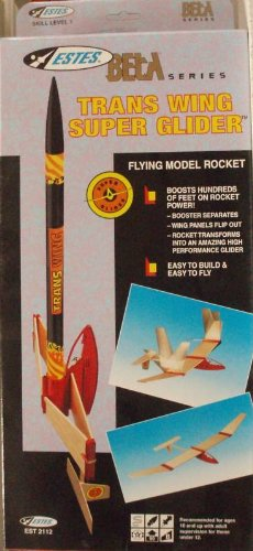 #2112 Estes BETA Series Trans Wing Super Glider Flying Model Rocket Kit,Needs Assembly