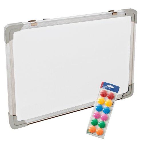 tectake-magnettafel-whiteboard-memoboard-inkl-12-magnete-diverse-grossen-40x30cm