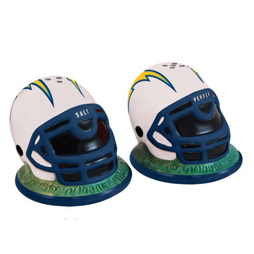 NFL San Diego Chargers Helmet Salt and Pepper Shakers