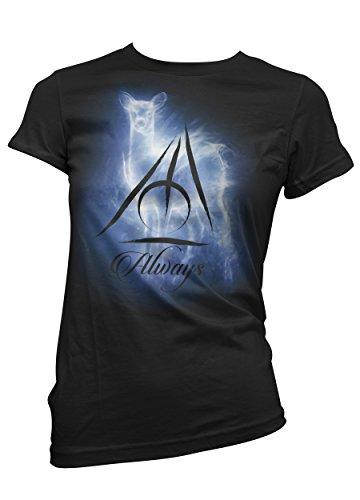 T-shirt Donna Always - Severus Piton Maglietta harry potter 100% cotone LaMAGLIERIA, S, nero