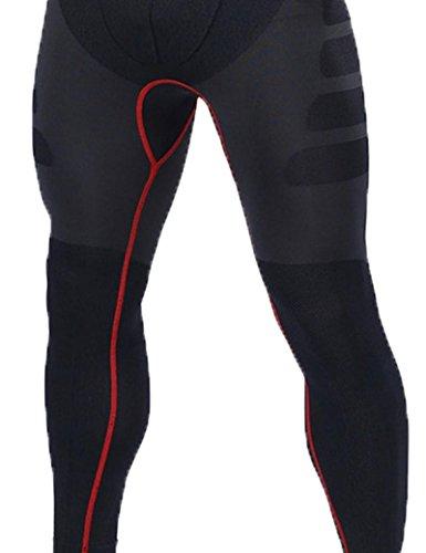 Tkria Uomo Sportivo Tempo Libero Asciutto Veloce Ciclismo Pantaloni Rosso,S