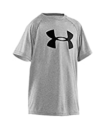 Boys\' Under Armour Tech Big Logo T-Shirt, True Gray Heather (025), Youth Large
