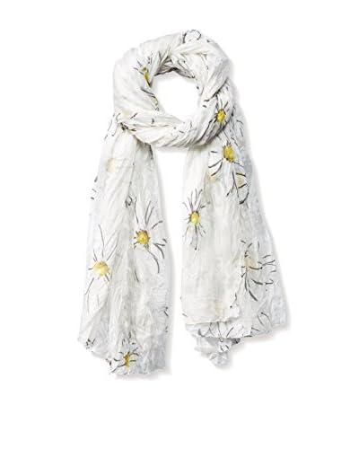 Dolce & Gabbana Women's Daisy Scarf, White/Black/Yellow