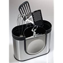 simplehuman Utensil Holder, Brushed Stainless Steel