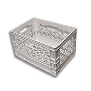 Amazon.com : 24qt White New Milk Crate : Farmplast Llc ...