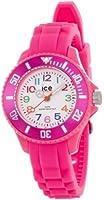 ICE-Watch - Montre enfants - Quartz Analogique - Ice-Mini - Pink - Mini - Cadran Blanc - Bracelet Silicone Rose - MN.PK.M.S.12