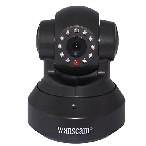 Wanscam 1.0 Megapixel Wifi Ip Network Camera Cctv Security 720P Hd Wireless Dual Audio Ir Cut Baby Monitor Night Vision Motion Detect Internet - Black front-273017