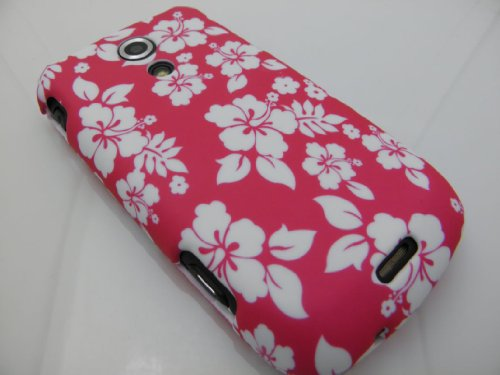HAWAIIAN FLOWERS Hard Rubber Feel Plastic Case for Samsung Epic 4G (Sprint Galaxy S Slider Versoin) [In Twisted Tech Retail Packaging]