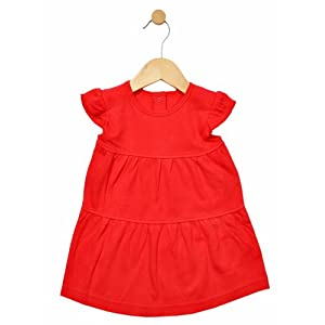 all red baby girl dress - nb