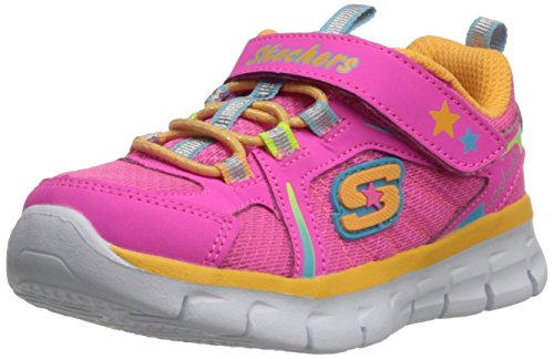 Skechers Synergy Lovespun Sneakers da Bambina, Colore Multicolore (NPMT), Taglia 24 EU (7 UK)