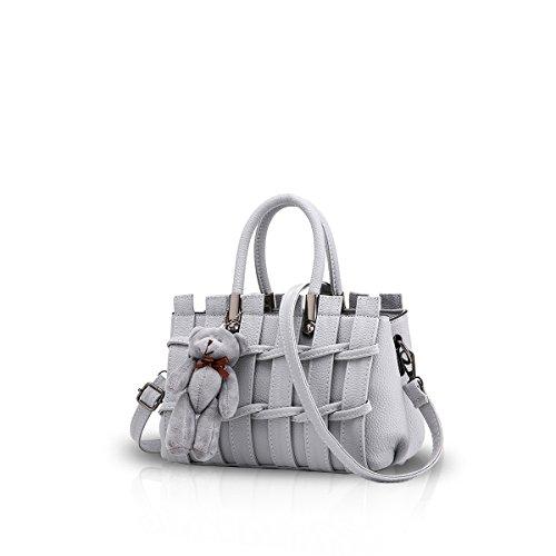 New Girl / femminile dolce Fashion Handbag Messenger Bag di Crossbody della spalla della borsa del Tote Grigio chiaro Nicole & Doris