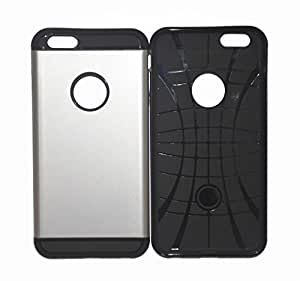 iphone 6 Plus (5.5-Inch) from ArmorSkinCase - Silver tough custom luxury armor case for your brand new Apple iphone - Retail Packaging - ASC-0008 - For Guys and Girls - AT&T, Verizon, Sprint, T Mobile, Unlocked - 30days Replacement Guaranteed