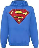 Superman Logo Kapuzenpulli blau