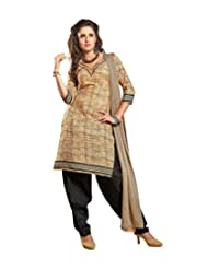 Sky Fashions Women's Multi Cotton Top Un-stiched Salwar Suit (SYFW0018)