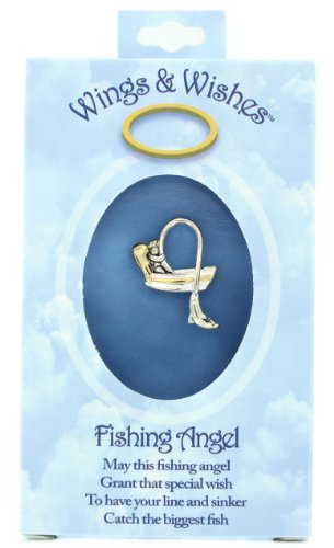 Fishing Wings & Wishes Angel Pin