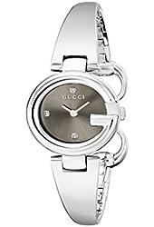 Gucci Women's YA134506 Guccissima Diamond-Accented Stainless Steel Bangle Watch