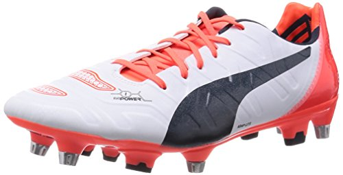 Puma evoPOWER 1.2 Mixed SG, Scarpe da calcio uomo multicolore, Bianco (Weiß (white-total eclipse-lava blast 05)), 44