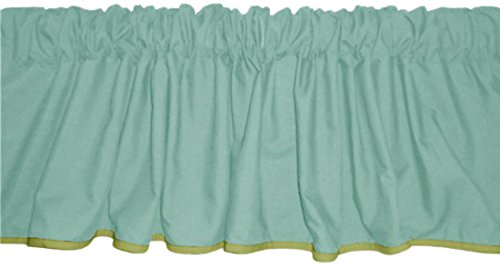 Baby Doll Reversible Window Valance, Yellow/Mint