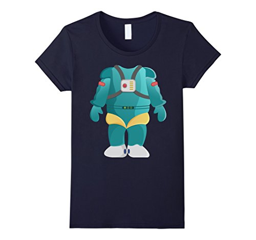 [Women's Easy Halloween Costume Funny Alien Robot Costume Shirt Medium Navy] (Female Robot Costumes)