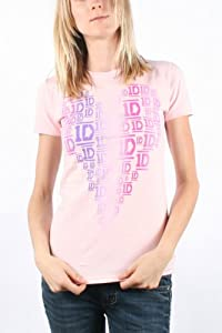 One Direction - Womens Heart T-shirt In Pink