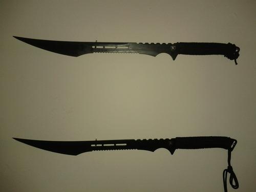 "Amazon.com: 27"" Full Tang Black Blade Fantasy Ninja Sword ..."