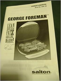 george foreman lean grilling machine manual