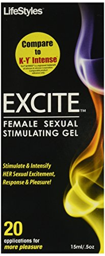 LifeStyles Excite Sensual Gel, Pump Bottle, 0.5 Ounce
