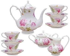 Gracie China Dahlia Porcelain 11-Piece Tea Set by Gracie China Coastline Imports