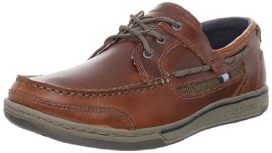 (五星)美国船鞋鼻祖男式三眼船鞋Sebago Men's Triton Three Eye Boat Shoe $63.23
