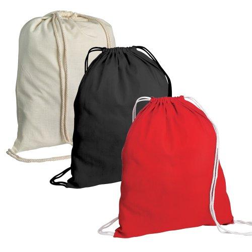50 Cotton Childrens Drawstring Rucksack - Gym, Swim, Sports, PE, Book Bag