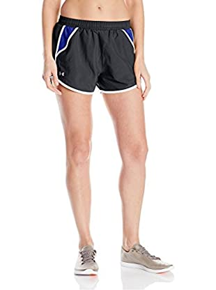 Under Armour Short Entrenamiento Fly By (Negro / Azul)