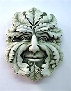 Amazon.com - Cast Stone Green Man Plaque - Gothic Woodland Spirits