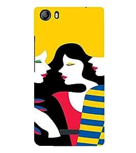 PrintVisa Gossip Girls Art 3D Hard Polycarbonate Designer Back Case Cover for Micromax Canvas 5 E481