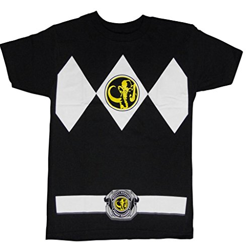 Mighty Morphin Power Rangers Costume Adult T-shirt Tee