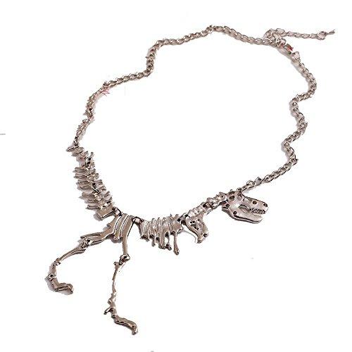 Susenstone-Steampunk-Goth-Alloy-Dinosaur-Skeleton-Dead-Tyrannosaurus-T-Rex-Necklace