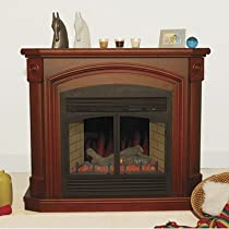 ProCom Full-Size Electric Fireplace - 5000 BTU, 32in., Coffee Glaze