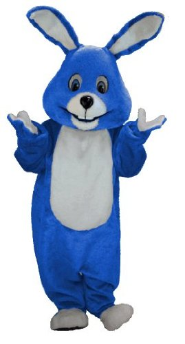 Royal Blue Bunny Lightweight Mascot Costume