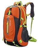 yemsy style 登山 リュック バッグ バックパック 大容量 防水 撥水 軽量 選べる カラー 山登り トレッキング ハイキング (オレンジ)