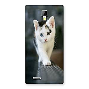Ajay Enterprises Walking Cute Cat Back Case Cover for Micromax Canvas Xpress A99