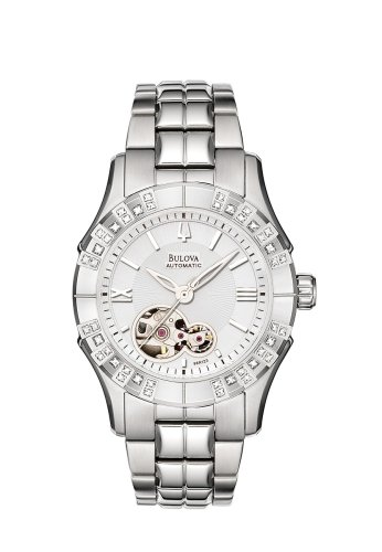 Bulova Women's 96R123 Mechanical Hand-Wind Automatic White Dial Watch