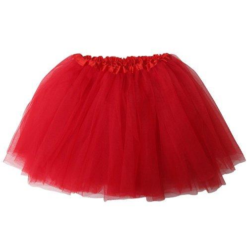 Ballerina Basic Girls Dance Dress-Up Princess Fairy Costume Dance Recital Tutu (Red) by So Sydney