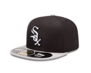 MLB Chicago White Sox Batting Practice 59Fifty Baseball Cap, Black Gray by New Era