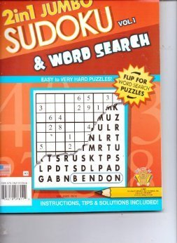 2 in 1 Jumbo Sudoku & Word Search Puzzles Volume 1 - 1