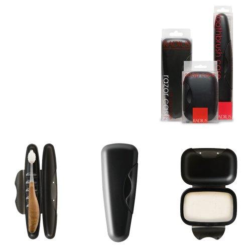 RADIUS Travel Case Kit for Toothbrush/Razor/Soap, Caviar Pearl (3 Pack)