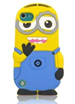 JBG Blue Touch 5 New 3D Despicable Me Minion 2 Deux yeux étui souple de housse de protection en silicone pour Apple iPod Touch 5 5