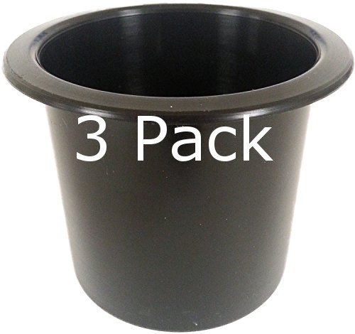 Three (3) pack of 2 7/8 Black Cup Holder Wholesale bulk listing