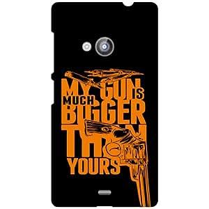 Nokia Lumia 535 My Gun Is Big Matte Finish Phone Cover