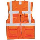 PORTWEST Gilet haute visibilité multipoche orange - - XS - Orange