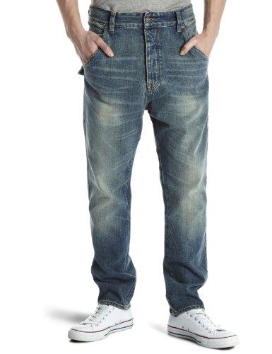 Firetrap Editor-Frontier Drop Crotch Men's Jeans Coupwash 28W x 32L